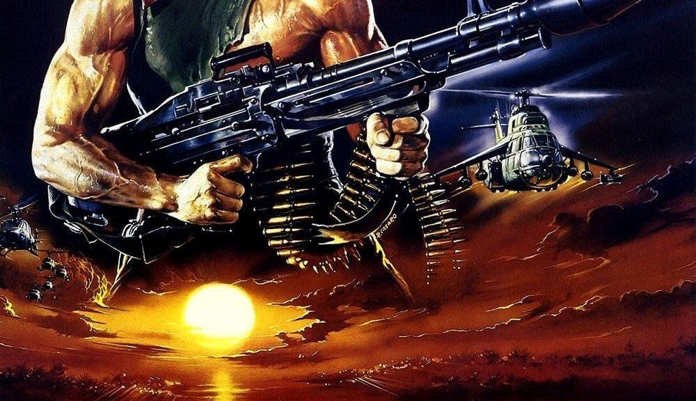 "Affiche du film ""Rambo II: La Mission"""