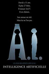 "Affiche du film ""A.I. : Intelligence Artificielle"""